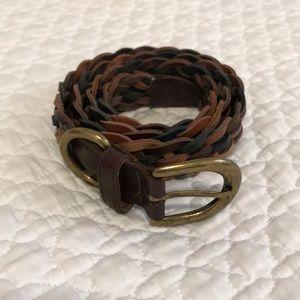 Multi-coloured braided belt, barely used